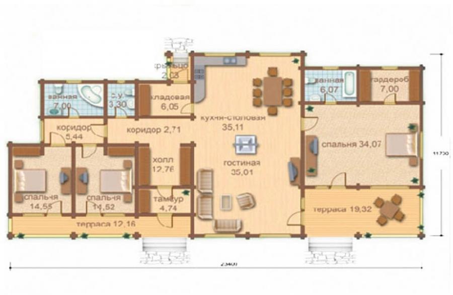 дома и планы всех этажей.