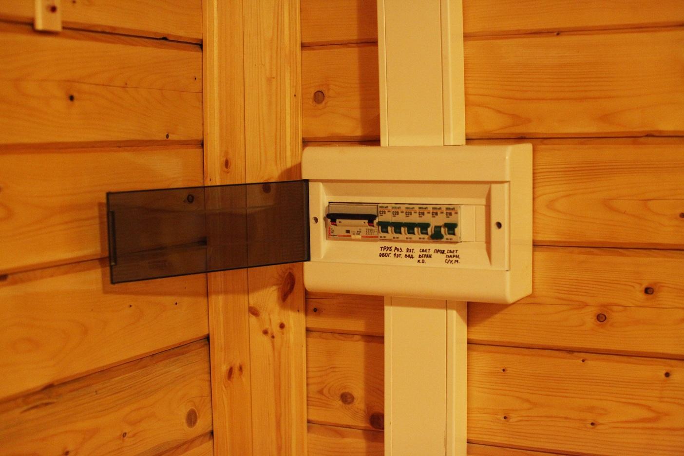 Монтаж электропроводки своими руками в деревянном доме